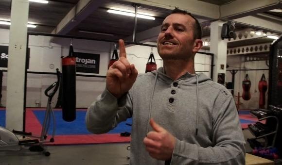 300 SECS Adam Evans in gym