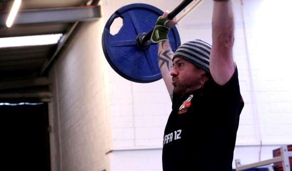600 SECS Adam Evans weight lift up