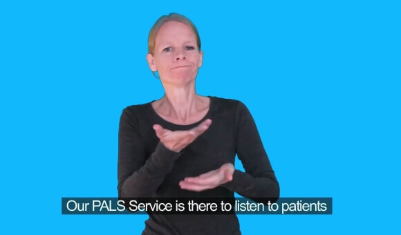 NHS making a complaint BSL and subtitle